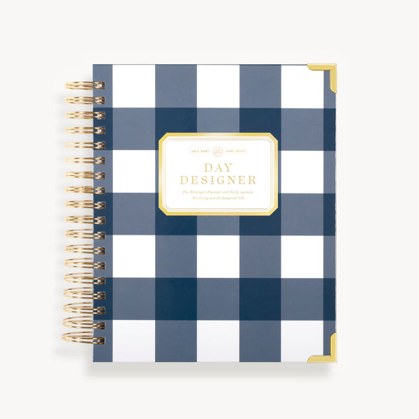 2021-2022 Daily Planner: Gingham