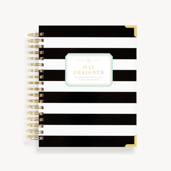 2021-2022 Daily Planner: Black Stripe