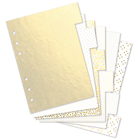 A5 Supplement Pack: Gold Tabs & Stickers