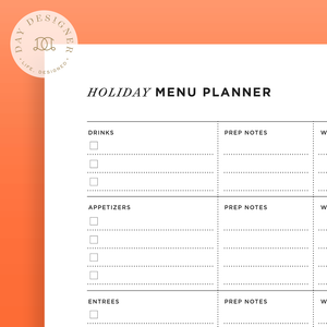 Holiday Menu Planner