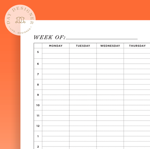 How to Design Your Week