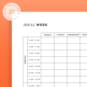 photo about Printable Days of the Week Chart called Printables Working day Designer