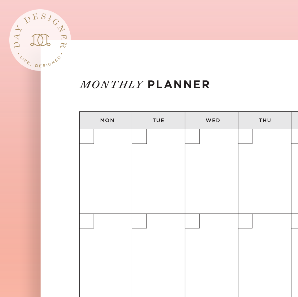 Monthly Calendar View Page Day Designer