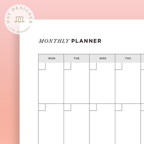 month at a glance budget printable