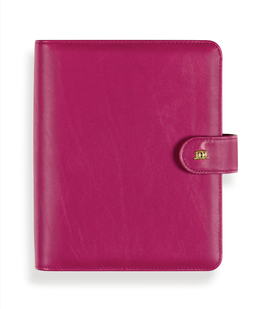 A5 Leather Binder: Organized Orchid