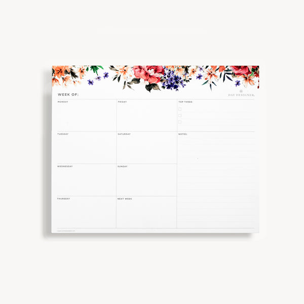 Weekly Planning Pad: Romance
