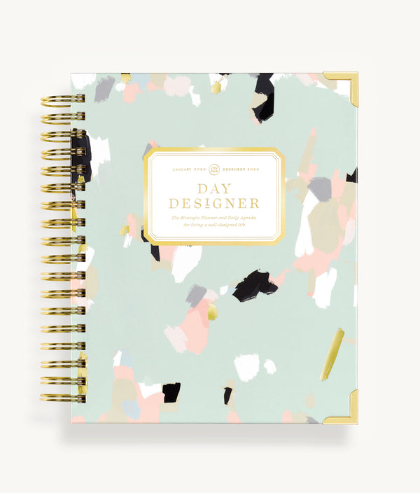 January 2020 Daily Planner:  Artfully Abstract