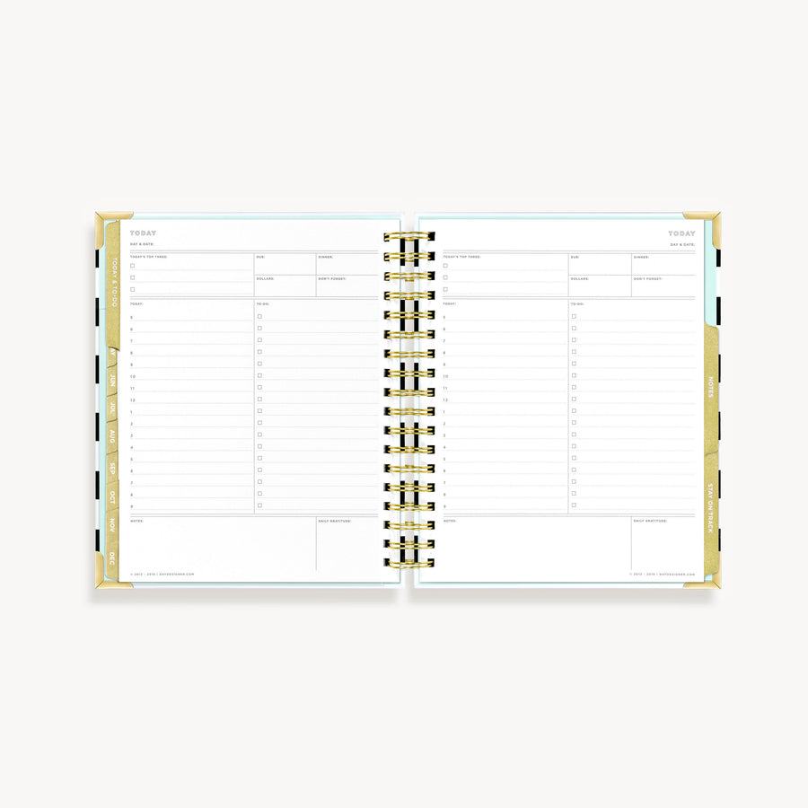 2021 Mini Weekly Planner:  Black Stripe