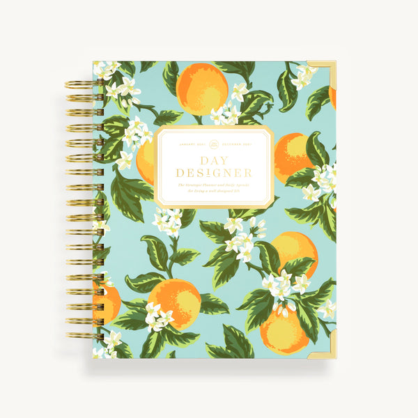 2021 Daily Planner: Orange Blossom