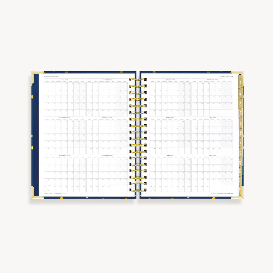 2021 Daily Planner:  Playful Polka Dot
