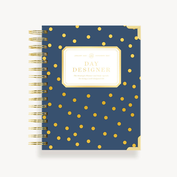 2021 Mini Daily Planner:  Playful Polka Dot