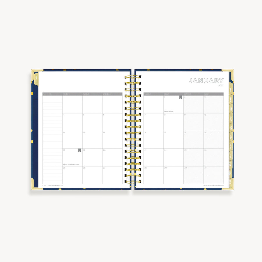 2021 Weekly Planner: Playful Polka Dot