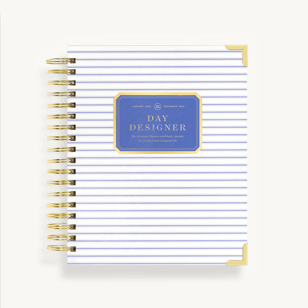 2021 Daily Planner: Ticking Stripe