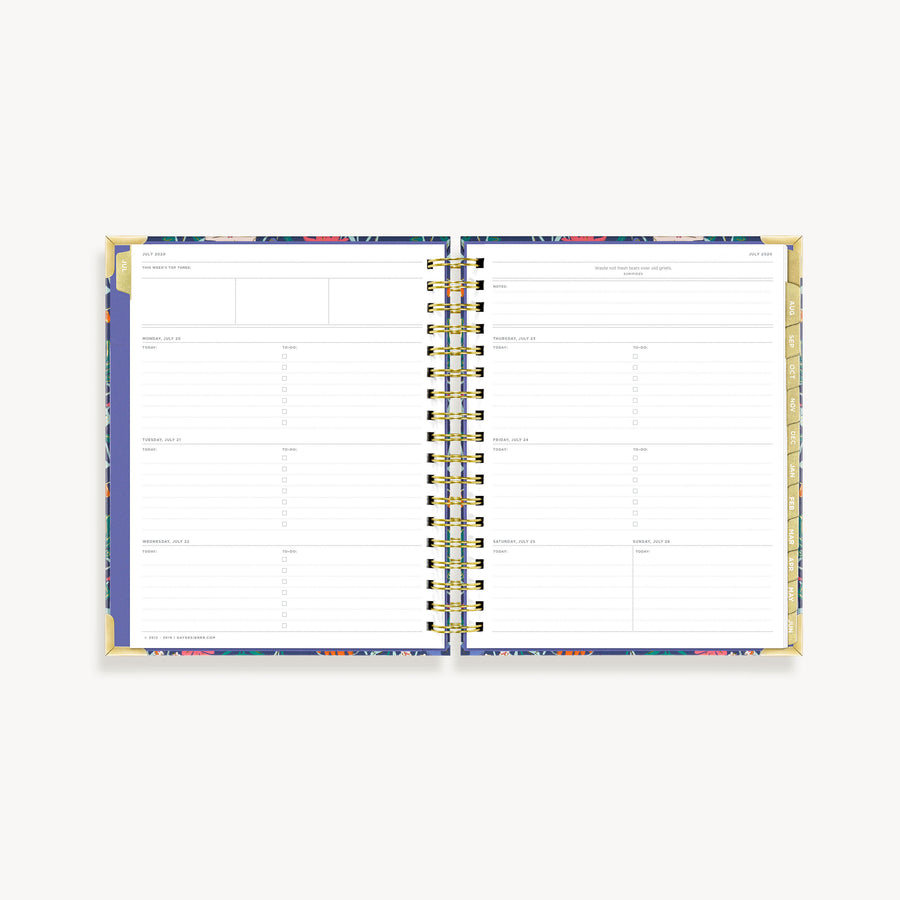 Academic Year 2020-2021 Weekly Planner: Wildflowers