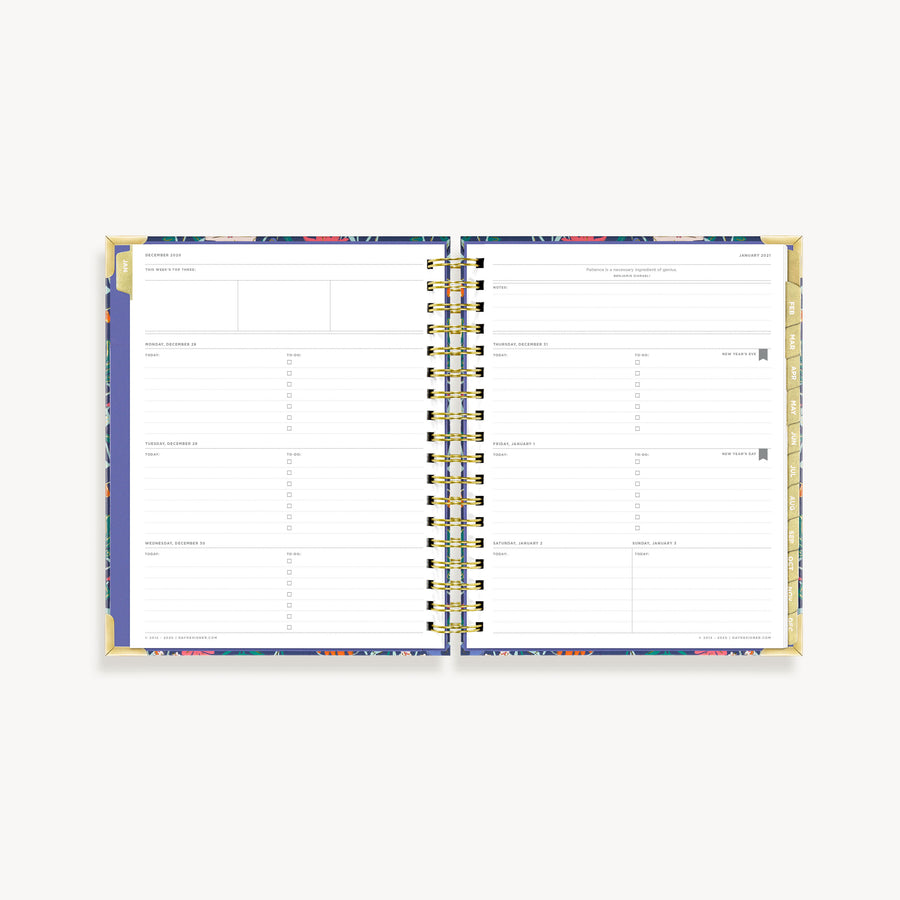 2021 Weekly Planner: Wildflowers