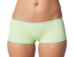 Seamless Animal Print Boy Shorts in Green