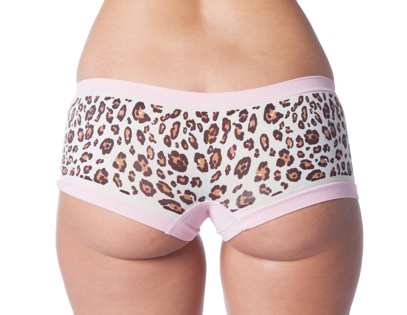 Seamless Leopard Boy Shorts