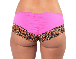 Pink and Leopard Boy Shorts