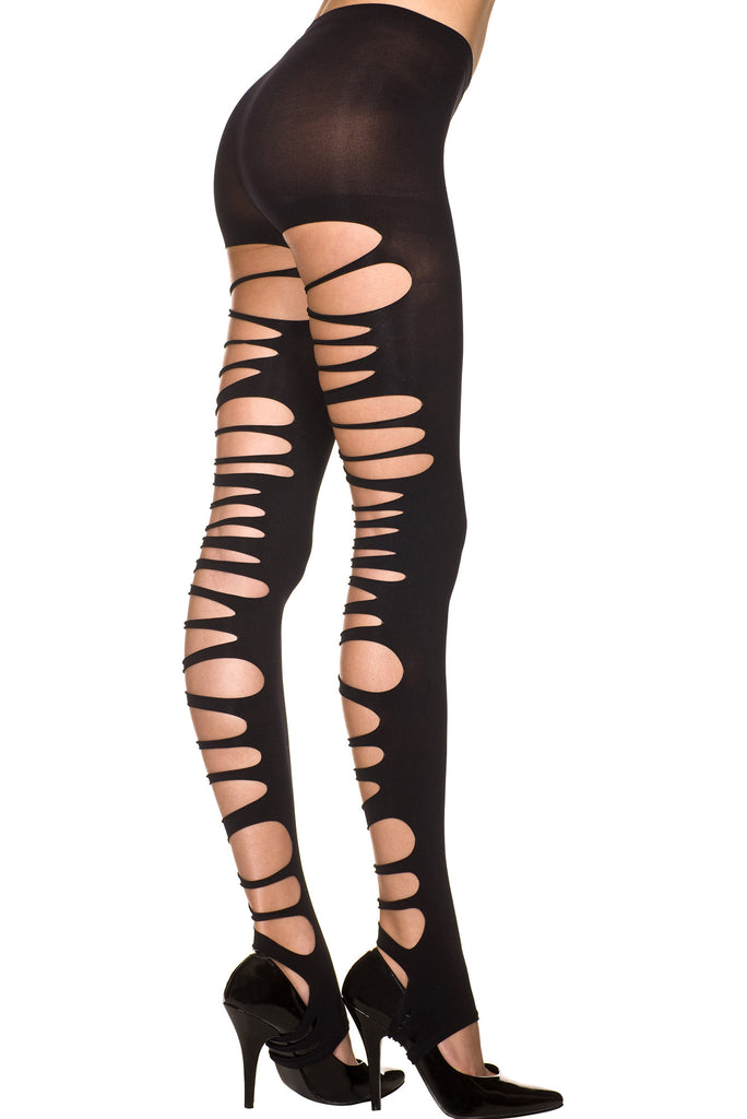 Big Ripped Opaque Spandex Stirrup Leggings