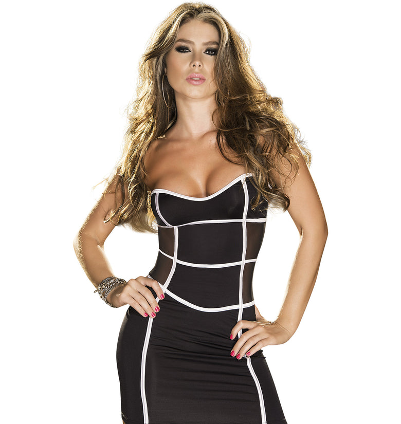 Swinger Strapless Sweetheart Dress in Black