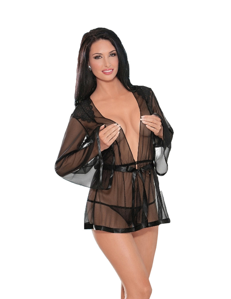Sheer Bridal Robe Set
