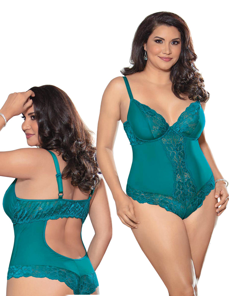 Teal Lace Teddy Queen