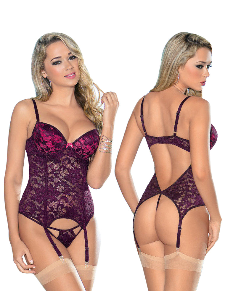 Open Back Plum Bustier