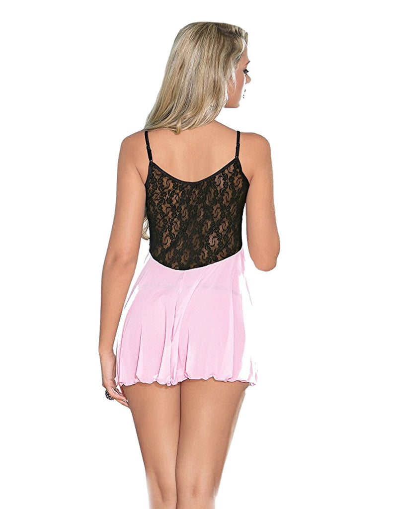 Mesh and Lace Babydoll