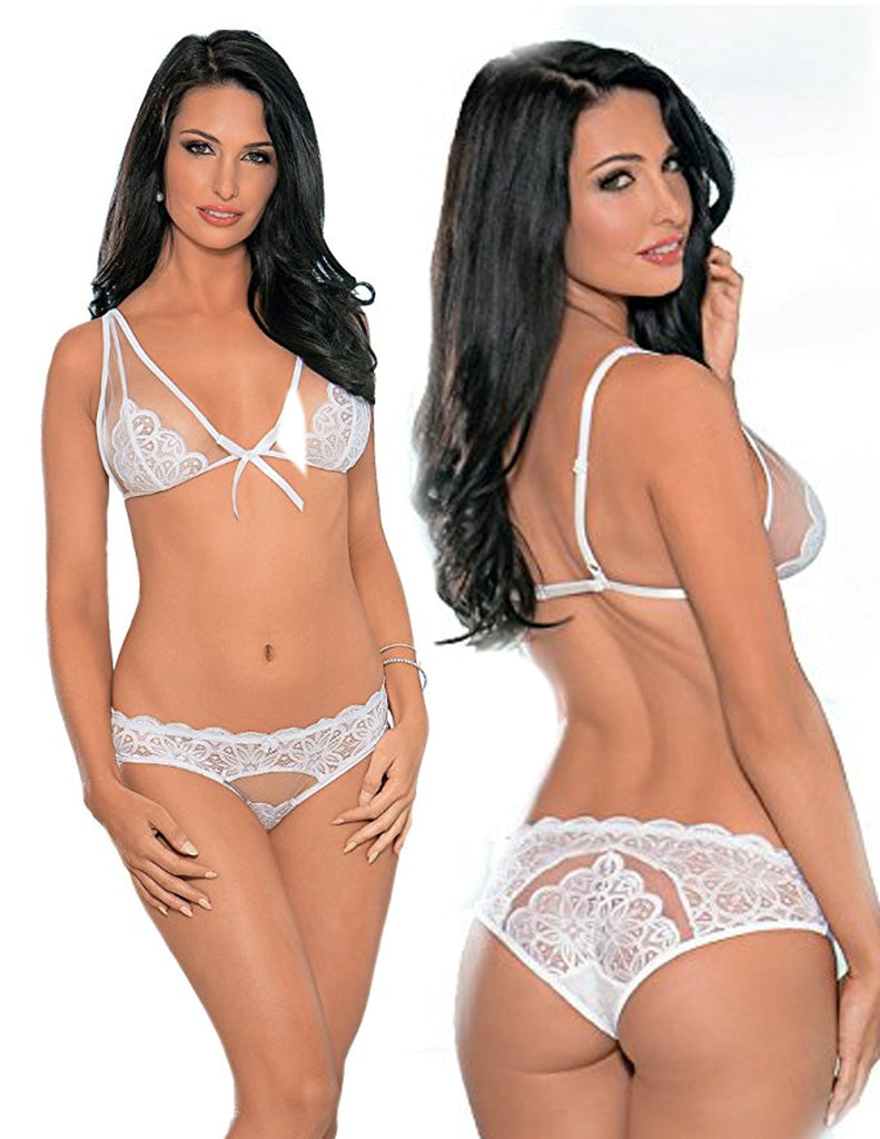 Mesh & Lace Bridal Bra Set