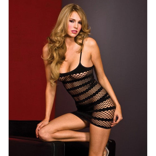 Mini Net Swinger Dress