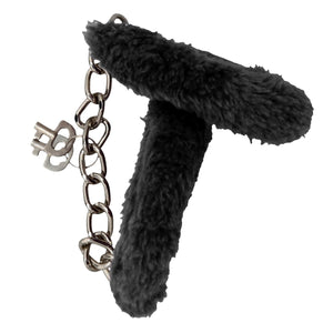 Consent and Comply Furry Cuffs - Black