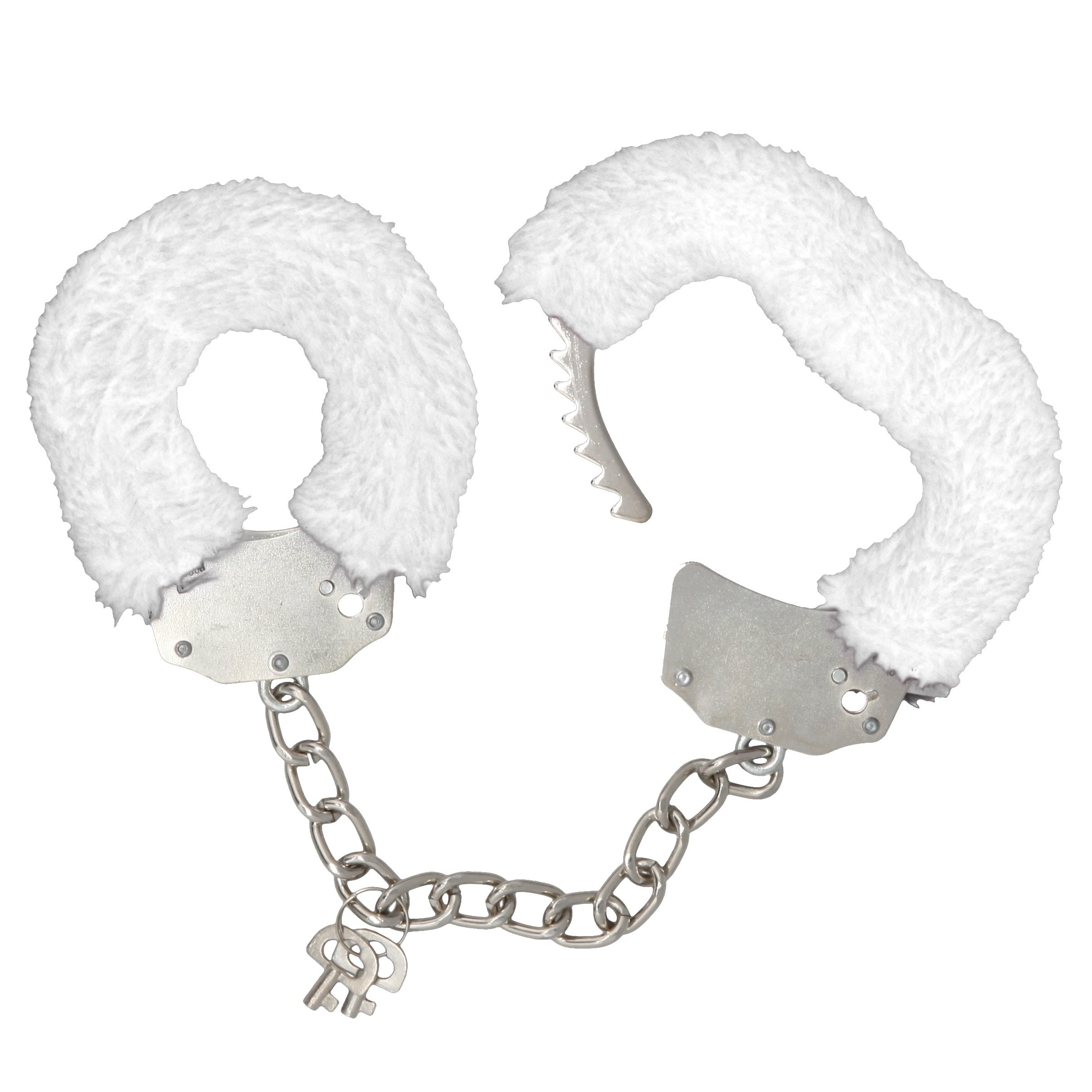 Consent and Comply Furry Cuffs - White
