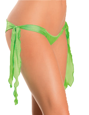 Flutter Side Rouched Back Bottom Neon Lime