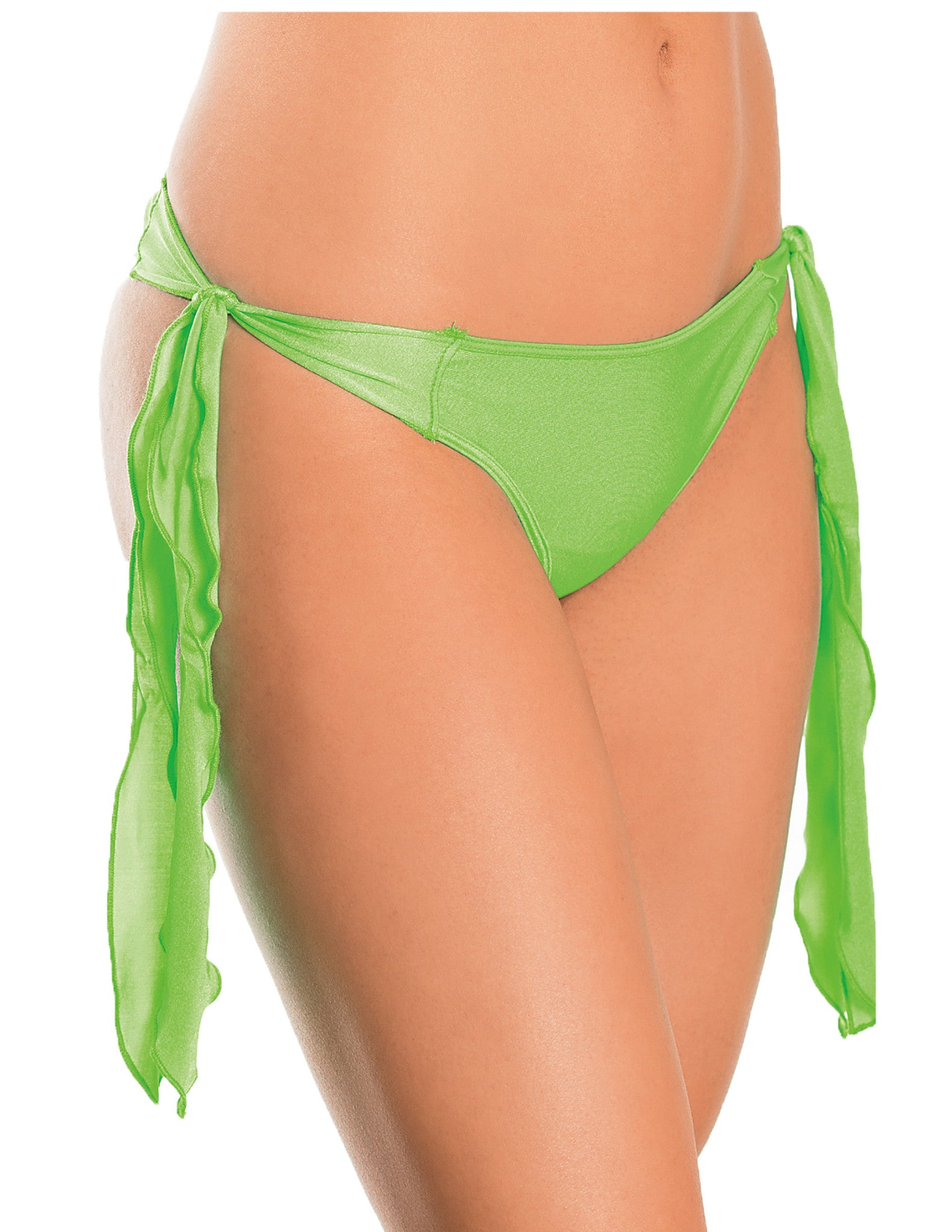 Flutter Side G-String Neon Lime One Size