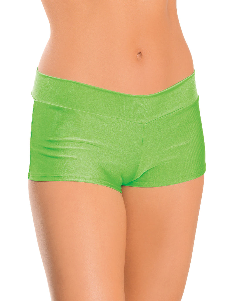 Midi Hi-Waist Boy Shorts Neon Lime