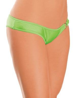 Jeweled Ring Rouched Back Bottom Neon Lime