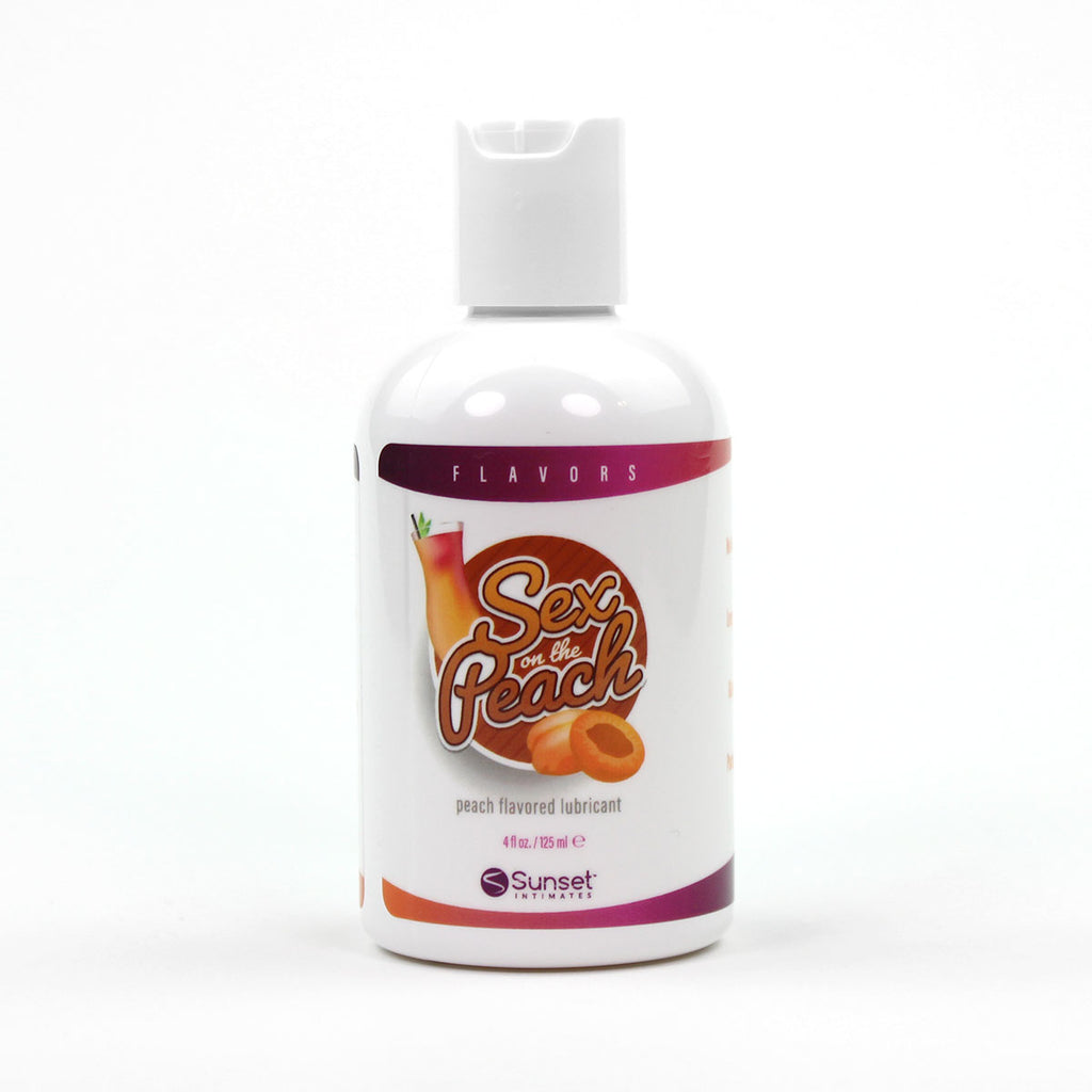 Succulent Sweet Peach Flavored Water-Based Lube 4.oz.
