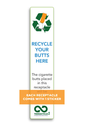 Cigarette Waste Recycling Receptacle