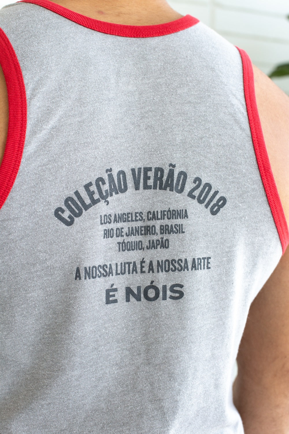 Grey & Red Premium Vintage Tank | Limited Edition Versão