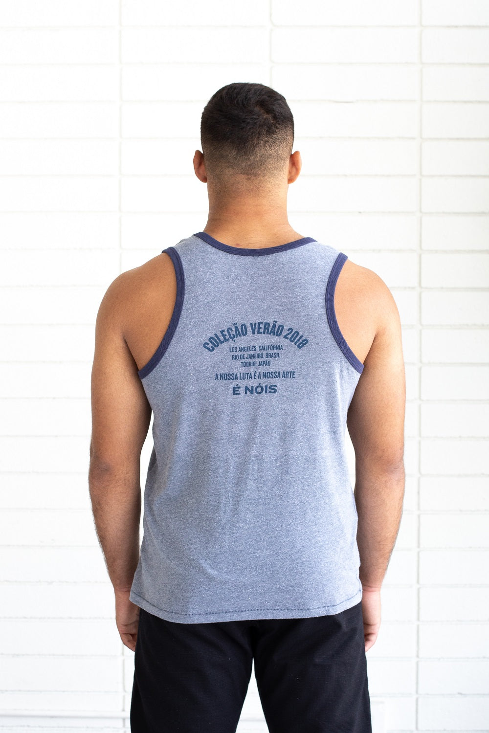 Grey and Blue Premium Vintage Tank | Limited Edition Versão
