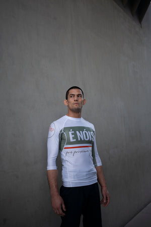 Limited Edition Batch 17 White/Green Rashguard