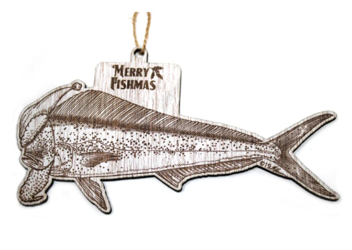 Offshore Fishmas Wood Christmas Ornaments
