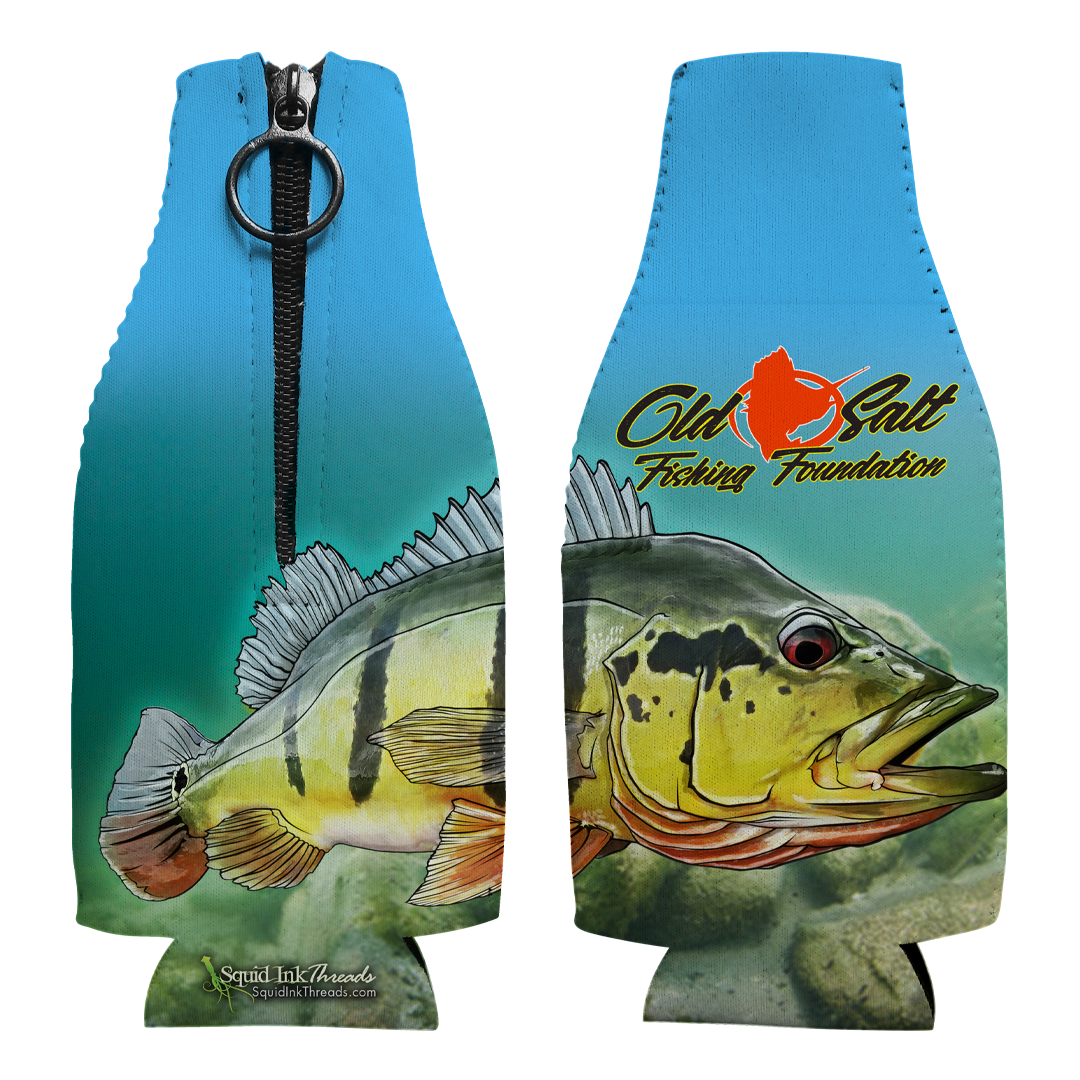 Peacock Bass Bottle Coozie