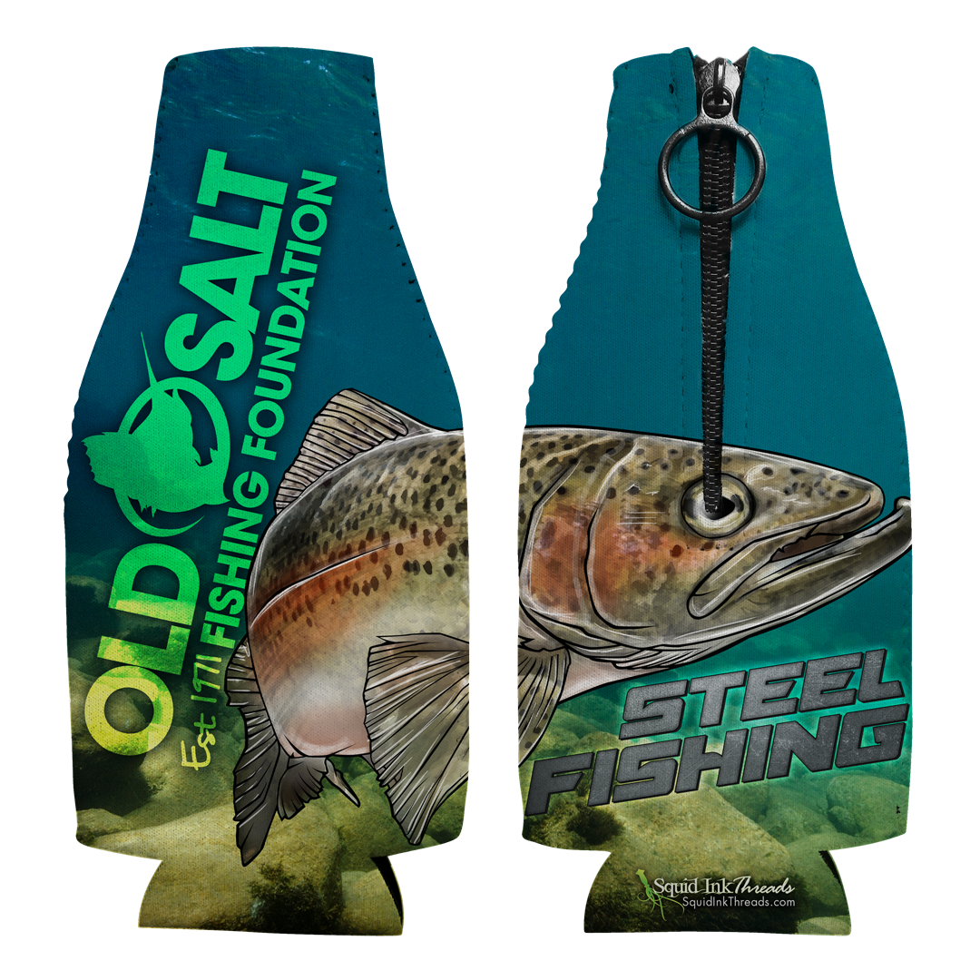 Steel Fishing Bottle Coozie