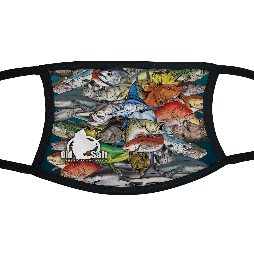 Fish Frenzy Face Mask