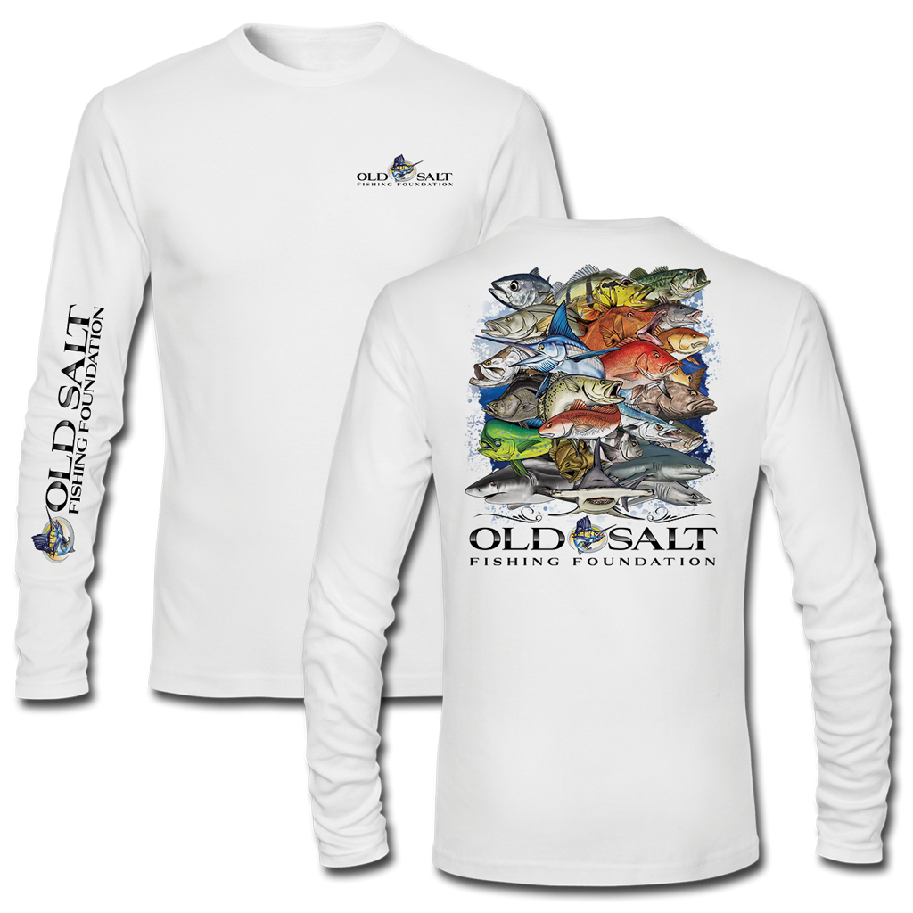 Youth fishing frenzy long sleeve performance tee old for Old salt fishing
