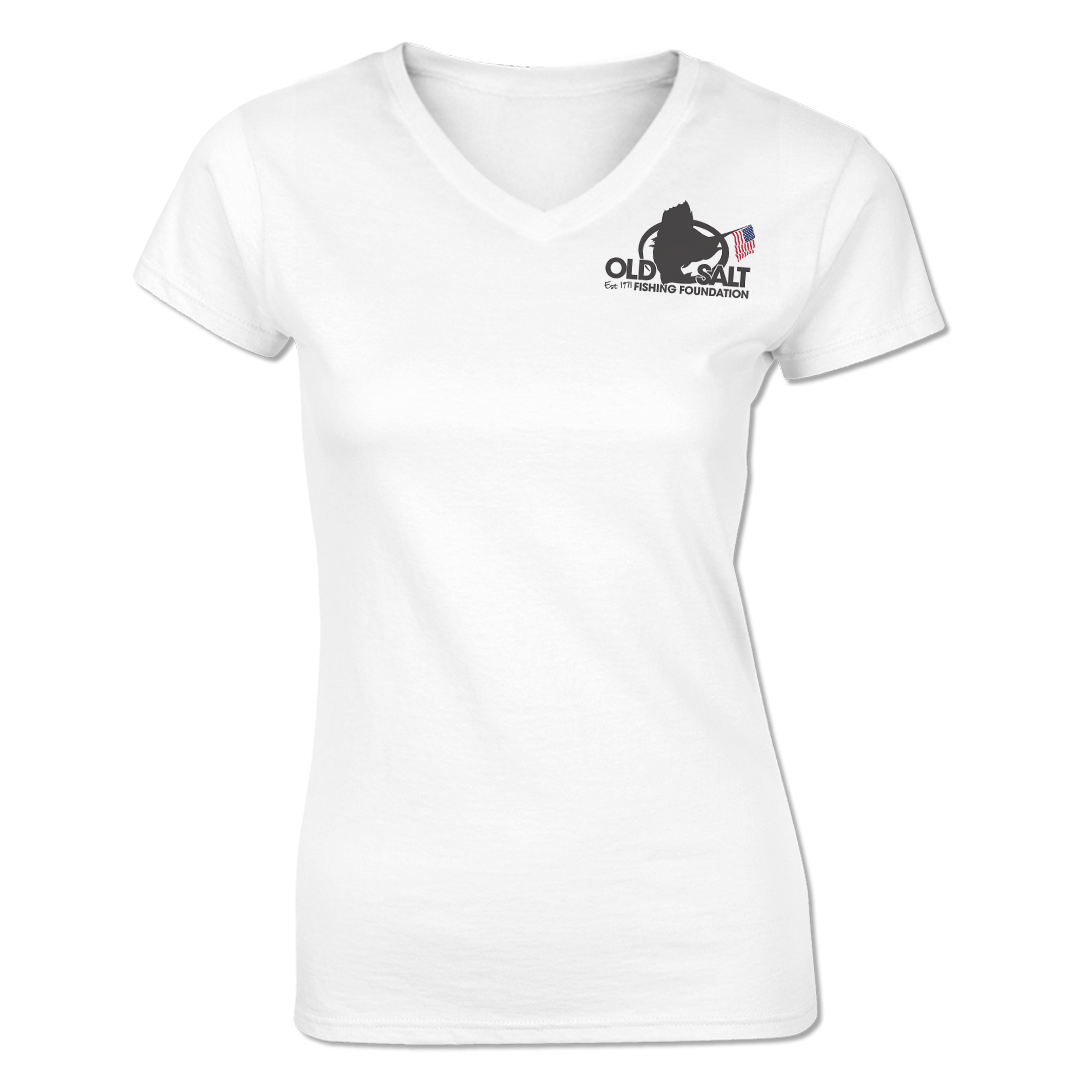 Premier Fishing Club - Ladies Short Sleeve V-Neck Shirt