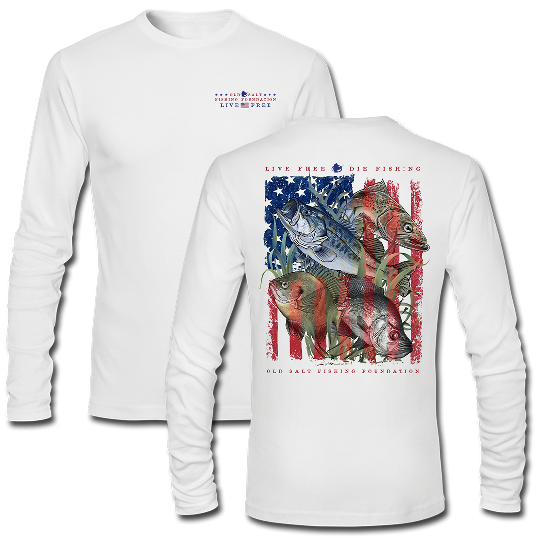 Live Free - Freshwater Long Sleeve Performance Shirt