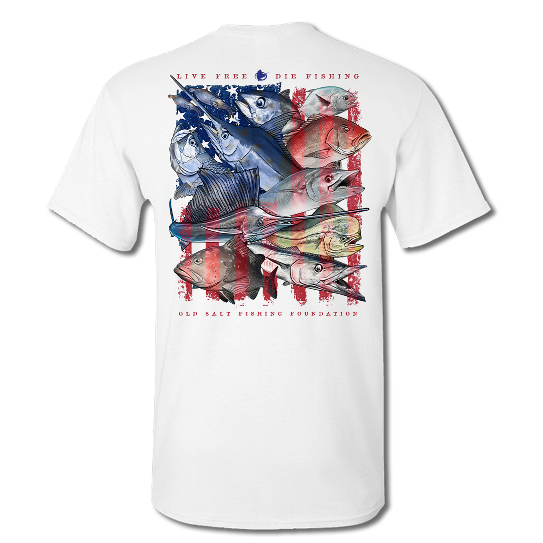 YOUTH Live Free - Saltwater Short Sleeve Performance Shirt