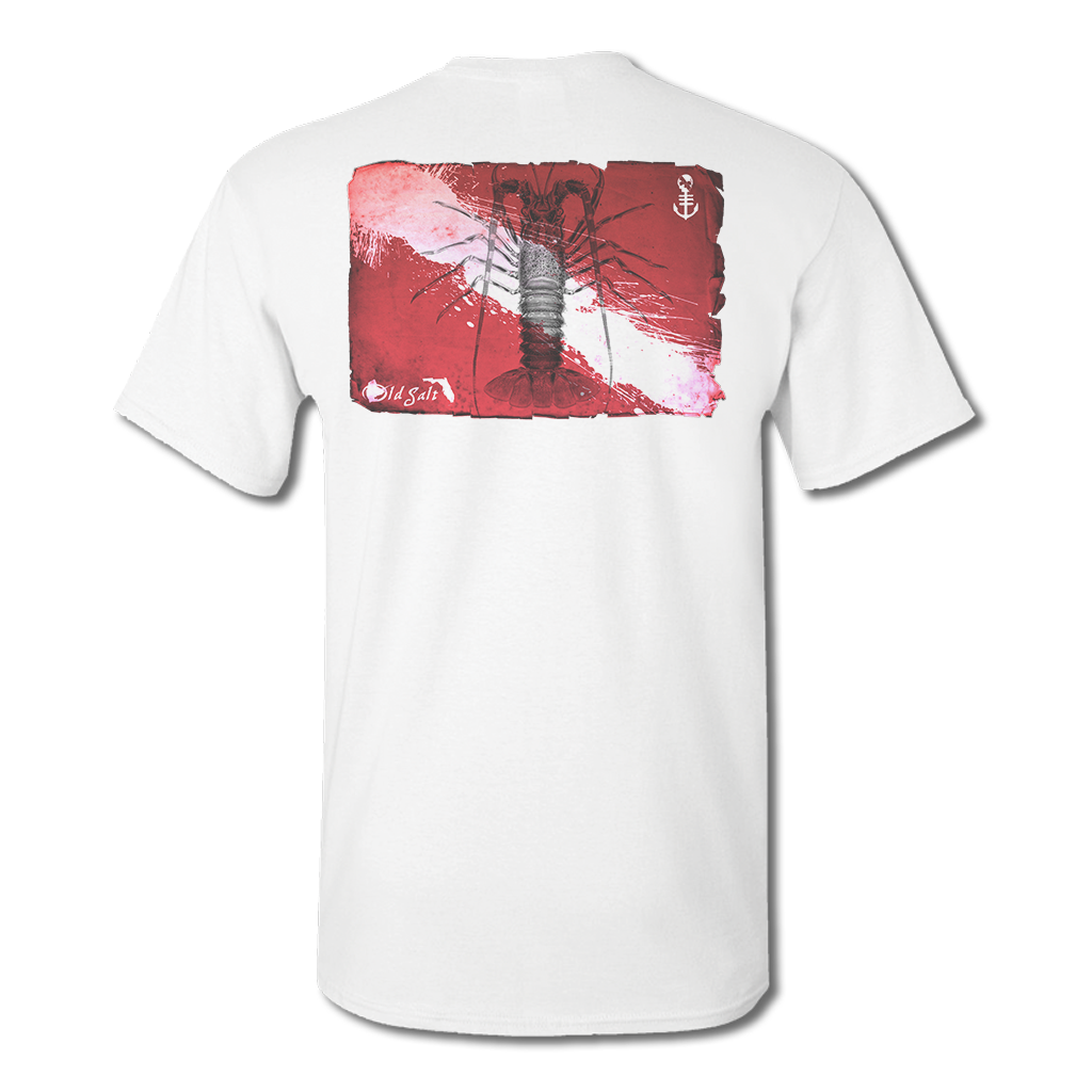 Lobster Dive Flag - Cotton/Poly Fishing T-Shirt